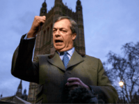 LONDON, ENGLAND - DECEMBER 10: Brexit campaigner and member of the European Parliament, Nigel Farage talks to the media in Westminster on December 10, 2018 in London, England. The Government have delayed the Meaningful Vote on Theresa May's Brexit deal, due to take place tomorrow, after hope that it would …
