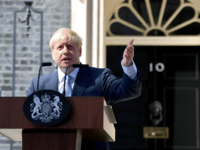 LONDON, ENGLAND - JULY 24: New Prime Minister Boris Johnson speaks to media outside Number 10, Downing Street on July 24, 2019 in London, England. Boris Johnson, MP for Uxbridge and South Ruislip, was elected leader of the Conservative and Unionist Party yesterday receiving 66 percent of the votes cast …