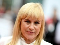 """US actress Patricia Arquette arrives for the screening of the film """"Sibyl"""" at the 72nd edition of the Cannes Film Festival in Cannes, southern France, on May 24, 2019. (Photo by LOIC VENANCE / AFP) (Photo by LOIC VENANCE/AFP via Getty Images)"""