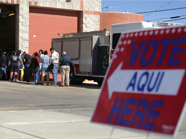 People line up to vote in Texas