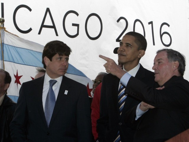 Rod Blagojevich and Obama (Jeff Haynes / AFP / Getty)