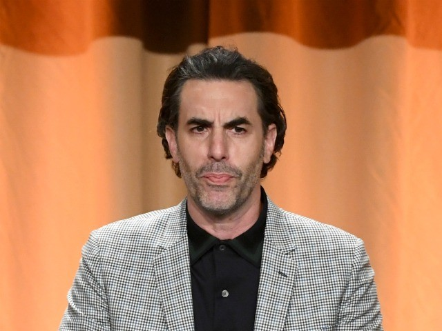 BEVERLY HILLS, CALIFORNIA - JULY 31: Sacha Baron Cohen speaks onstage during Hollywood Foreign Press Association's Annual Grants Banquet at Regent Beverly Wilshire Hotel on July 31, 2019 in Beverly Hills, California. (Photo by Kevin Winter/Getty Images)