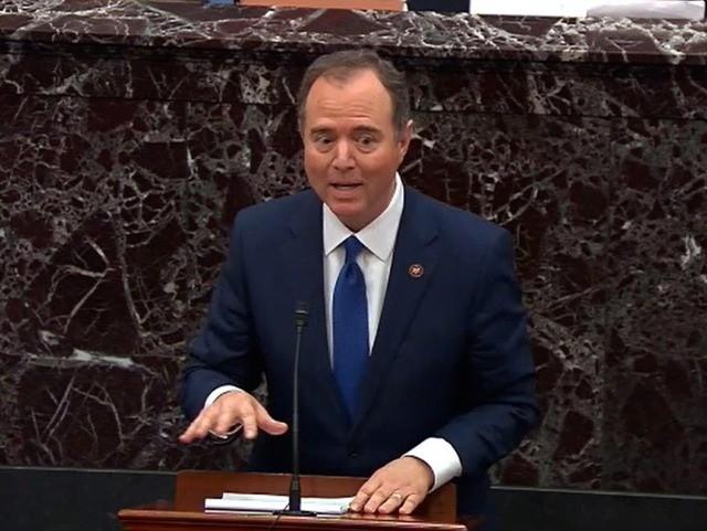 Schiff angry (Senate TV / Getty)