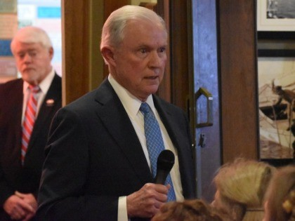 Former U.S. Attorney General Jeff Sessions speaks in Guntersville, AL, 1/7/2019