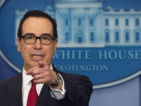 US Secretary of Treasury Steven Mnuchin speaks during the daily press briefing at the White House in Washington, DC, January 11, 2018. / AFP PHOTO / SAUL LOEB (Photo credit should read SAUL LOEB/AFP via Getty Images)