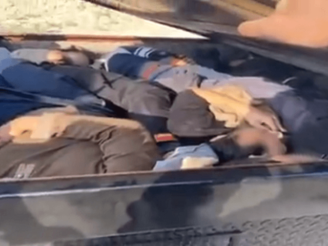 Yuma Sector agents apprehended ten Chinese illegal aliens following a vehicle pursuit on New Year's Eve. (Photo: U.S. Border Patrol Video Screenshot)