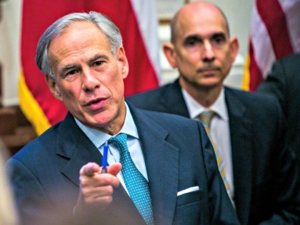 GOP Texas Gov. Greg Abbott Signs Back-the-Blue Pledge