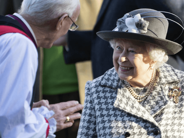 "Britain's Queen Elizabeth II leaves after attending a church service at St Mary the Virgin, in Hillington, England, Sunday, Jan. 19, 2020. Buckingham Palace says Prince Harry and his wife, Meghan, will no longer use the titles ""royal highness"" or receive public funds for their work under a deal that …"