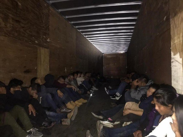 Laredo Sector Border Patrol agents arrest 33 migrants from China, Guatemala, Honduras, and Mexico from a tractor-trailer human smuggling attempt. (Photo: U.S. Border Patrol/Laredo Sector)
