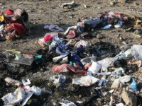 EDITORS NOTE: Graphic content / Personal belongings and debris are pictured scattered on the ground after a Ukrainian plane carrying 176 passengers crashed near Imam Khomeini airport in the Iranian capital Tehran early in the morning on January 8, 2020, killing everyone on board. - The Boeing 737 had left …