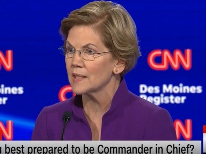 Elizabeth Warren at 1/14/20 Democratic debate