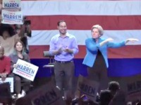 Warren Dancing at Rally