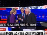 Elizabeth Warren and Bernie Sanders after 1/14/2020 Democratic debate