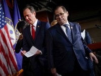 WASHINGTON, DC - JANUARY 28: (L-R) House impeachment managers Rep. Adam Schiff (D-CA) and Rep. Jerry Nadler (D-NY) depart a press conference after the Senate adjourned for the day during the Senate impeachment trial at the U.S. Capitol on January 28, 2020 in Washington, DC. President Donald Trump's legal defense …