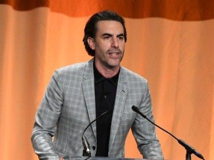 Sacha Baron Cohen at Golden Globes