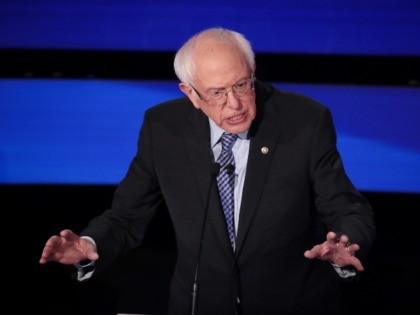 DES MOINES, IOWA - JANUARY 14: Sen. Bernie Sanders (I-VT) delivers his closing statement during the Democratic presidential primary debate at Drake University on January 14, 2020 in Des Moines, Iowa. Six candidates out of the field qualified for the first Democratic presidential primary debate of 2020, hosted by CNN …