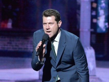NEW YORK, NY - MAY 13: Billy Eichner speaks on stage during the Turner Upfront 2015 at Madison Square Garden on May 13, 2015 in New York City. 25201_002_TW_0847.JPG (Photo by Theo Wargo/Getty Images for Turner)