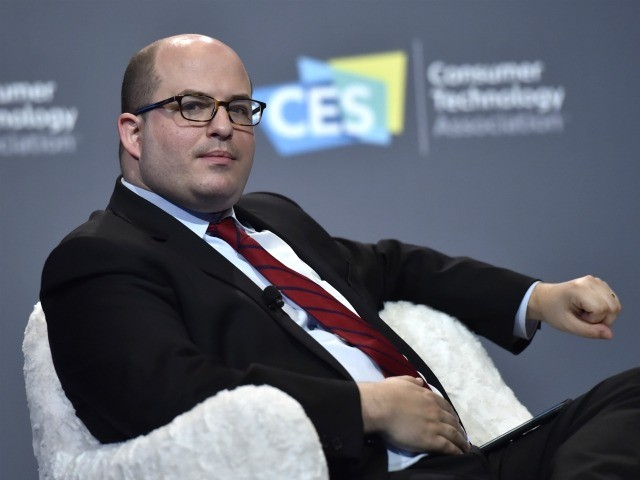 LAS VEGAS, NEVADA - JANUARY 09: CNN anchor and correspondent Brian Stelter speaks during a press event at CES 2019 at the Aria Resort & Casino on January 9, 2019 in Las Vegas, Nevada. CES, the world's largest annual consumer technology trade show, runs through January 11 and features about …