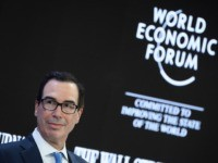 US Treasury Secretary Steven Mnuchin attends a session at the Congress center during the World Economic Forum (WEF) annual meeting in Davos, on January 21, 2020. (Photo by Fabrice COFFRINI / AFP) (Photo by FABRICE COFFRINI/AFP via Getty Images)