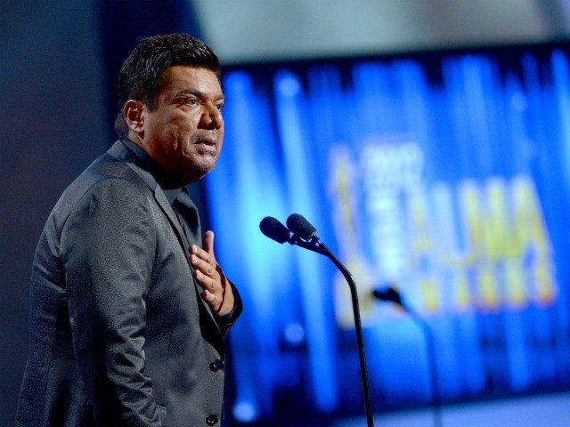 PASADENA, CA - SEPTEMBER 16: Hosts George Lopez speaks onstage at the 2012 NCLR ALMA Awards at Pasadena Civic Auditorium on September 16, 2012 in Pasadena, California. (Photo by Kevin Winter/Getty Images for NCLR)