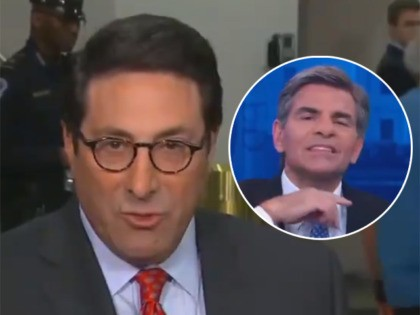 Watch: George Stephanopoulos Makes Throat-Slitting Gesture to Cut Away from Trump Lawyer
