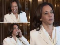 Watch: Kamala Harris Caught Flashing Grin Before Lamenting 'Solemn' Im