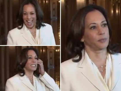 Watch: Kamala Harris Grins Before Calling Impeachment 'Solemn, Serious Moment'