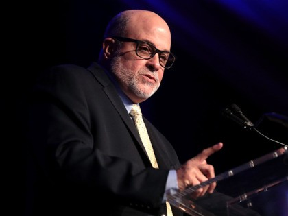 Mark Levin speaking with attendees at the 2nd Annual Turning Point USA Winter Gala at the Mar-A-Lago Club in Palm Beach, Florida.