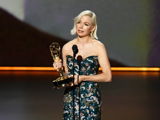 LOS ANGELES, CALIFORNIA - SEPTEMBER 22: Michelle Williams accepts the Outstanding Lead Actress in a Limited Series or Movie award for 'Fosse/Verdon' onstage during the 71st Emmy Awards at Microsoft Theater on September 22, 2019 in Los Angeles, California. (Photo by Kevin Winter/Getty Images)