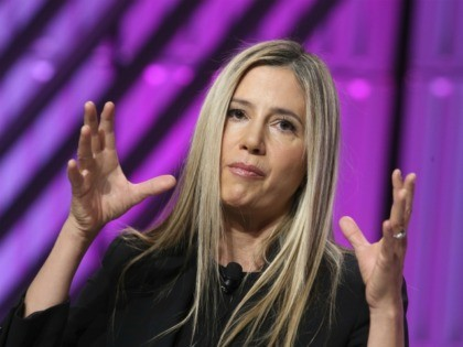 LOS ANGELES, CA - NOVEMBER 2: Mira Sorvino on stage at day 2 of TheWrap's Power Women's Summit at the InterContinental Hotel in Los Angeles, California on November 2, 2018. Credit: Faye Sadou/MediaPunch /IPX