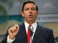 FORT LAUDERDALE, FLORIDA - OCTOBER 07: Florida Gov. Ron DeSantis announces that he wants to raise the minimum starting salary for teachers during a press conference held at Bayview Elementary School on October 07, 2019 in Fort Lauderdale, Florida. The Governor's proposed 2020 budget recommendation will include a pay raise …