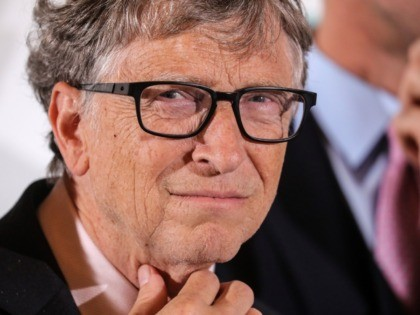 Microsoft founder, Co-Chairman of the Bill & Melinda Gates Foundation, Bill Gates poses during a photocall at the start of the funding conference of Global Fund to Fight AIDS, Tuberculosis and Malaria, Lyon's city hall, central eastern France, on October 9, 2019. - The Global Fund to Fight AIDS, Tuberculosis …