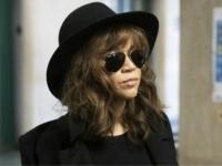 Actress Rosie Perez arrives for Harvey Weinstein's rape trial, Friday, Jan. 24, 2020 in New York. (AP Photo/Mark Lennihan)