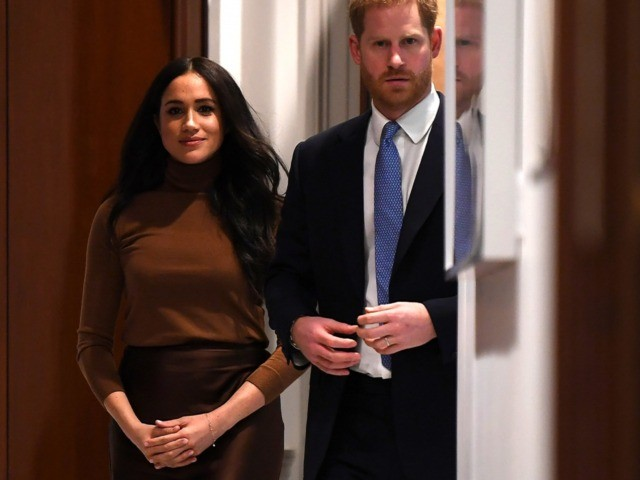 LONDON, UNITED KINGDOM - JANUARY 07: Prince Harry, Duke of Sussex and Meghan, Duchess of Sussex during their visit to Canada House in thanks for the warm Canadian hospitality and support they received during their recent stay in Canada, on January 7, 2020 in London, England. (Photo by DANIEL LEAL-OLIVAS …