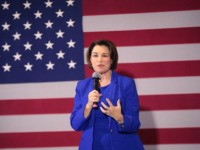 PERRY, IOWA - JANUARY 12: Democratic presidential candidate Sen. Amy Klobuchar (D-MN) speaks to guests during a campaign stop at the Hotel Pattee on January 12, 2020 in Perry, Iowa. The 2020 Iowa Democratic caucuses will take place on February 3, 2020, making it the first nominating contest for the …