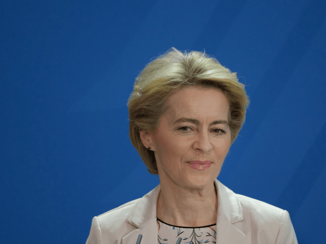 BERLIN, GERMANY - NOVEMBER 08: Incoming President of the European Commission Ursula von der Leyen speaks to the media following talks with German Chancellor Angela Merkel at the Chancellery on November 8, 2019 in Berlin, Germany. Von der Leyen, who was previously Germany's defense minister, is due to succeed current …