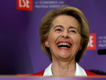 """European Commission President Ursula von der Leyen delivers a keynote speech at the London School of Economics in London on January 8, 2020. - The EU's top official on Wednesday predicted """"tough talks"""" with Britain on the sides' future relations after Brexit enters force after years of delays at the …"""