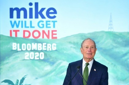 Presidential hopeful Michael Bloomberg addresses his supporters at the opening of a Los Angeles field office for his campaign on January 6, 2020