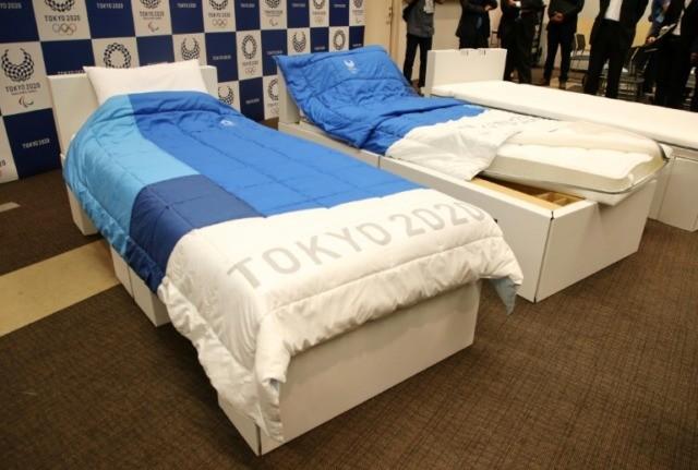 Cardboard beds won't fold under Olympic pressure, says manufacturer
