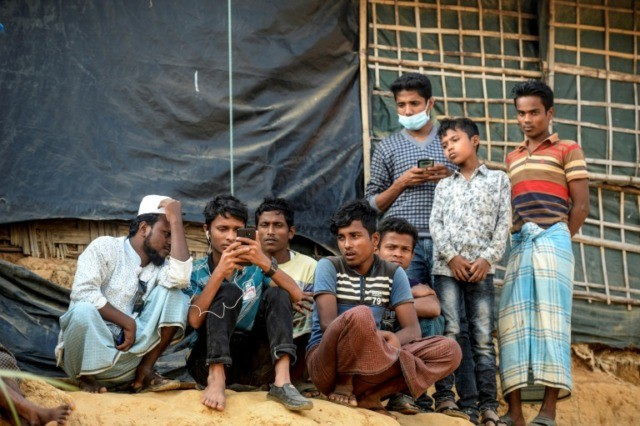 US door closing: Rohingya refugees from Myanmar in a camp in Cox's Bazar in southern Bangladesh