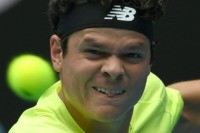 Raonic blasts Cilic off court to make Aussie Open quarters