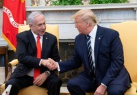 US President Donald Trump and Prime Minister Benjamin Netanyahu tout an Israeli-Palestinian peace plan that the Palestinians rejected