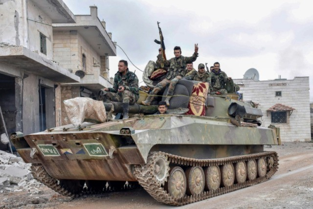 Syrian Government Troops Advance In Last Rebel Stronghold