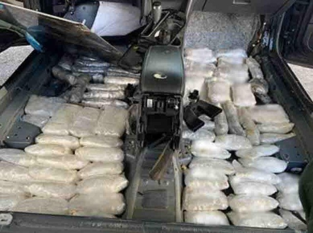 Border Patrol agents in the Yuma Sector find $440,000 in methamphetamine, cocaine, and heroin at an immigration checkpoint. (Photo: U.S. Border Patrol/Yuma Sector)