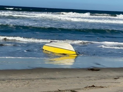 Capsized human smuggling vessel. One migrant died during this incident and another is in grave condition. (Photo: U.S. Border Patrol/San Diego Sector)