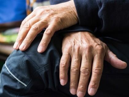 A man's hands
