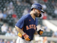 Altuve Nicked by Pitch, Astros Stars Booed on the Road