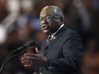 FILE - In a Thursday, July 28, 2016 file photo, Rep. James Clyburn, D-SC, speaks during the final day of the Democratic National Convention in Philadelphia. Despite having called on him to withdraw following the revelation of decades-old domestic violence, U.S. Rep. Jim Clyburn, South Carolina's lone congressional Democrat is …