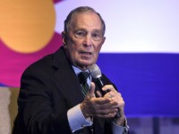 Democratic presidential candidate Michael Bloomberg speaks to gun control advocates and victims of gun violence in Aurora, Colo., on Thursday, Dec. 5, 2019. The billionaire former New York City mayor unveiled a gun control policy just steps from one of Colorado's worst mass shootings, calling for a ban on all …