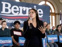 Rep. Alexandria Ocasio-Cortez, D-N.Y., speak at a campaign stop for Democratic presidential candidate Sen. Bernie Sanders, I-Vt., at La Poste, Sunday, Jan. 26, 2020, in Perry, Iowa. (AP Photo/Andrew Harnik)